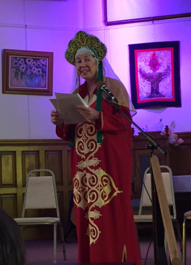 Linda Seger performs as Santa Sophia Byzantine Martyr